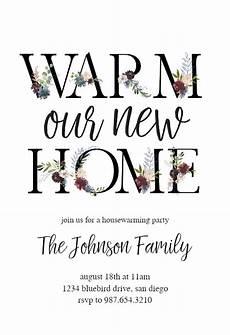 Housewarming Invitation Samples Floral Letters Housewarming Invitation Template Free