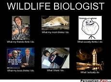 What Do Wildlife Biologists Do Wildlife Biologist What People Think I Do What I