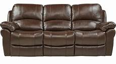 vercelli brown leather reclining sofa contemporary