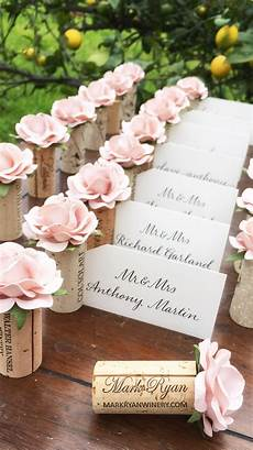 Pink Place Cards Wine Cork Place Card Holder Winery Wedding Decor Seating