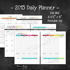 Daily Planner 2015 Happy 2015 Printable Daily Planner Calendar