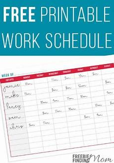 Work Schedule Creator Free 29 Free Home Organization Printables Page 3