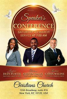 Church Flyer Speakers Conference Church Flyer