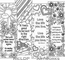Malvorlagen Lesezeichen Kostenlos Printable Colouring Bookmarks With Quotes Coloring Bookmark