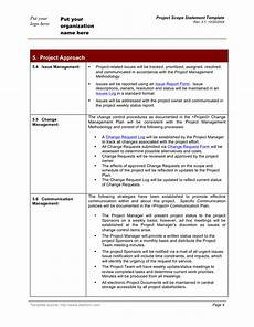 Project Scope Template Word Project Scope Statement Template In Word And Pdf Formats
