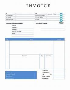 Invoice Template Editable Editable Plumbing Sales Invoice Sample In Word Templates
