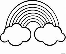 Ausmalbilder Zum Ausdrucken Regenbogen Regenbogen Mit Wolken Malvorlagen Zum Ausdrucken In 2020