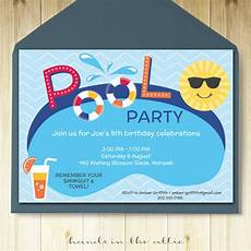Pool Party Invites Free Printables Pool Party Invitation Printable Template Hands In The