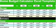 Budget Calculation Excel Home Budget Calculator Excel Template Home Budget Calculator