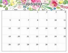 January Editable Calendar 2020 Free Printable January 2020 Calendar Pages Editable