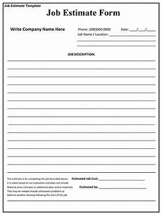 Blank Estimate Form Template Construction Estimating Forms Template Example Of
