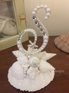 wedding cake topper shell cake topper seashell cake topper