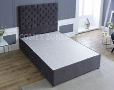 king size 5ft chenille divan bed base draws headboard