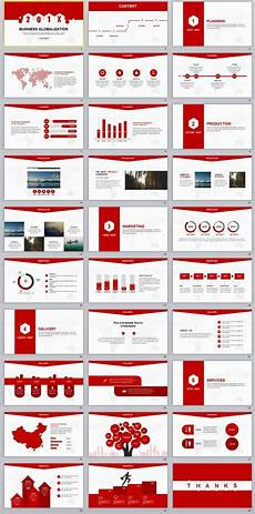 Red Powerpoint 30 Red Creative Business Report Powerpoint Template