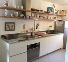 cucine con mensole c116 cucina lineare con mensole cucine in acciaio inox
