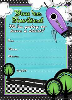 Free Printable Party Invitations For Boys Free Printable Party Invitations Rocket Ship Birthday