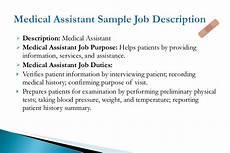Clerical Duties Of A Medical Assistant Medical Assistant Job Description