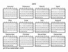 Calnder For 2010 Download 2010 Printable Calendars