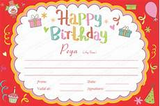 Free Printable Birthday Certificates 23 Birthday Certificate Templates Psd Eps In Design