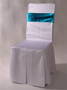 factory wholesale white polyester christmas chair covers
