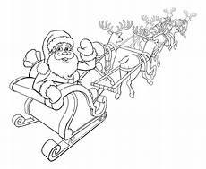 Ausmalbild Weihnachtsmann Mit Schlitten Weihnachtsmann Und Rentier Weihnachten Schlitten Schlitten