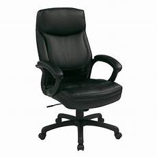 work smart black eco leather executive office chair ec6583
