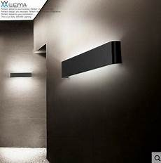 applique a led per interni moderno 14 w 41 cm lungo in alluminio applique led per