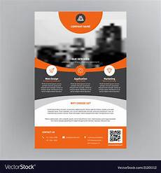 Corporate Flyer Designs Company Brochure Corporate Flyer Cover Design Vector Image