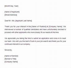 Rejection Letter Template 27 Rejection Letters Template Hr Templates Free