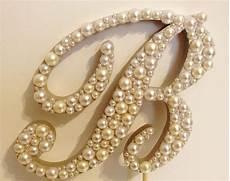 commercial script pearl monogram wedding cake topper font