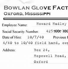 Howard Lighting Mississippi Howard Hadley Personnel File