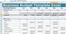 Buisness Templates Business Budget Template Excel Free Excel Spreadsheets