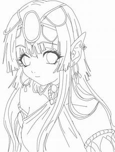 Elfen Malvorlagen Japanese Anime Coloring Pages Sketch Coloring Page