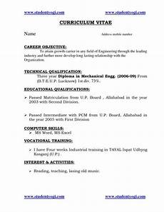 Mechanical Resume Samples For Freshers Tags Resume For Fresher Mechanical Engineering Student
