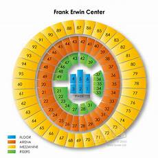 Frank Erwin Center Seating Chart Seat Numbers Frank Erwin Center Tickets Frank Erwin Center