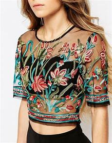 embroidery fashion image 3 of ebonie n ivory sheer mesh crop top in festival