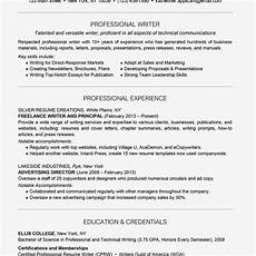 Resume Professional Writers Reviews Professional Writer Resume Example And Writing Tips