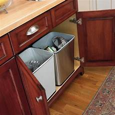 counter trash can by polder in cabinet trash cans