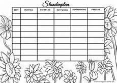 Gratis Malvorlagen Stundenplan Stundenplan Und Wochenplan Zum Ausdrucken Notebook