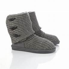 bearpaw s gray knit slipper boot