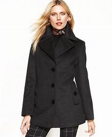 womens pea coats active calvin klein wool blend pea coat macy s