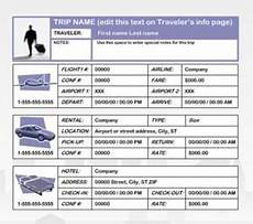 Travel Plan Excel Business Travel Plan Template Free Printables Word Excel