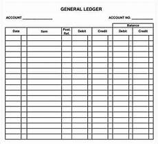 Ledger Template Free 12 Excel General Ledger Templates Excel Templates