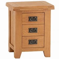 country oak small 3 drawer bedside table 3 drawer