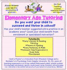 Math Tutor Flyer Examples Elementary Age Reading Writing Math Tutor Dedham Ma Patch