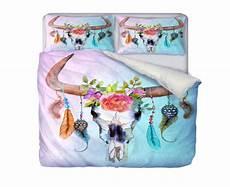 boho chic bull skull comforter set available in