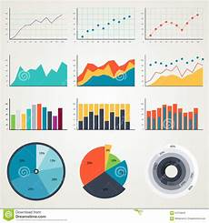 Examples Of Charts Graphs And Diagrams Set Of Elements For Infographics Charts Graphs Diagrams