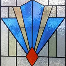 Art Deco Stained Glass Window Designs 1930 Art Deco Stained Glass Panel From Period Home Style