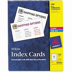 Avery Template 5388 Avery 5388 Laser Inkjet Index Card Avi Depot Much More