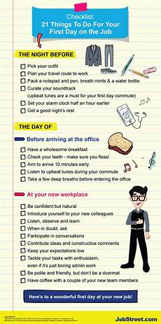 First Day Of Work Advice Downloadable Checklist 21 Things To Do For Your First Day